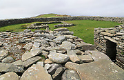 Knockdrum Iron Age stone fort perimeter defensive walls, near Castletownshend, County Cork, Ireland, Irish Republic