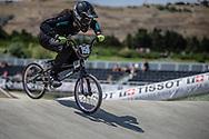 Women Junior #159 (SMITH Jessie) NZL at the 2018 UCI BMX World Championships in Baku, Azerbaijan.