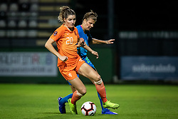 Dominique Bloodworth of Nederland and Pamela Begič of Slovenia during football match between Slovenia and Nederland in qualifying Round of Woman's qualifying for EURO 2021, on October 5, 2019 in Mestni stadion Fazanerija, Murska Sobota, Slovenia. Photo by Blaž Weindorfer / Sportida