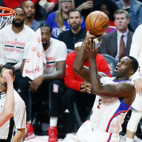 11 January 2017: LA Clippers forward Brandon Bass (30) goes for the jump shot during the LA Clippers 105-96 victory over the Orlando Magic, at the Staples Center, Los Angeles, California, USA.