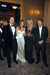 Left to right, WILLIAM TURNER, his wife EMILY OPPENHEIMER-TURNER, ELISABETH MURDOCH and her husband MATTHEW FREUD at the Ark 2007 charity gala at Marlborough House, Pall Mall, London SW1 on 11th May 2007.<br />