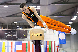 Michel Bletterman of Netherlands competes in the Pommel Horse during Final day 1 of Artistic Gymnastics World Challenge Cup Ljubljana, on April 19, 2014 in Hala Tivoli, Ljubljana, Slovenia. Photo by Vid Ponikvar / Sportida