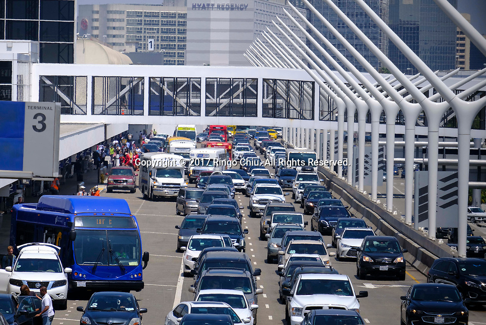 Traffic is congested at Los Angeles International Airport on Friday, June 30, 2017 in Los Angeles. (Photo by Ringo Chiu)<br /> <br /> Usage Notes: This content is intended for editorial use only. For other uses, additional clearances may be required.