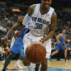 18 February 2009: during a NBA basketball game between the Orlando Magic and the New Orleans Hornets at the New Orleans Arena in New Orleans, Louisiana.