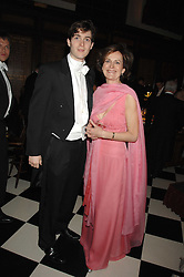 LORD SEYMOUR and his mother the DUCHESS OF SOMERSET at the 2008 Berkeley Dress Show at the Royal Hospital Chelsea, London on 3rd April 2008.<br /><br />NON EXCLUSIVE - WORLD RIGHTS