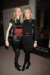 Left to right, CHLOE BUCKWORTH and OLIVIA BUCKINGHAM at a party to celebrate the launch of the Astley Clarke Fine Jewellery Collection held at The Connaught hotel, London W1 on 28th February 2008.<br />
