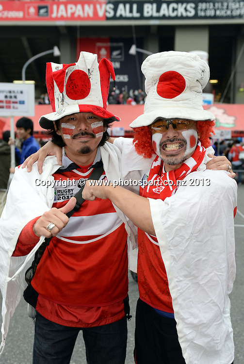 Japan fans. Japan v New Zealand All Blacks. Test match rugby union. Tokyo, Japan. Saturday 2 November 2013. Photo: Andrew Cornaga/www.Photosport.co.nz
