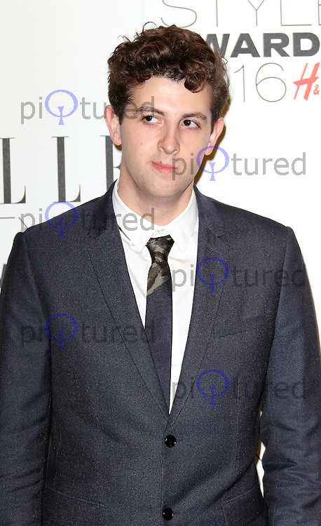 Jamie XX, ELLE Style Awards 2016, Millbank London UK, 23 February 2016, Photo by Richard Goldschmidt