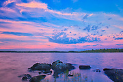 Clouds at dusk on Lake of the Woods<br />Sioux Narrows Provincial PArk<br />Ontario<br />Canada