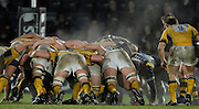 Wycombe, GREAT BRITAIN, Second half scrum,  letting off steam, During the Guinness Premiership Game, London Wasps vs Leeds Carnegie, at Adams Park. 05/01/2008  [Mandatory credit Peter Spurrier/ Intersport Images]