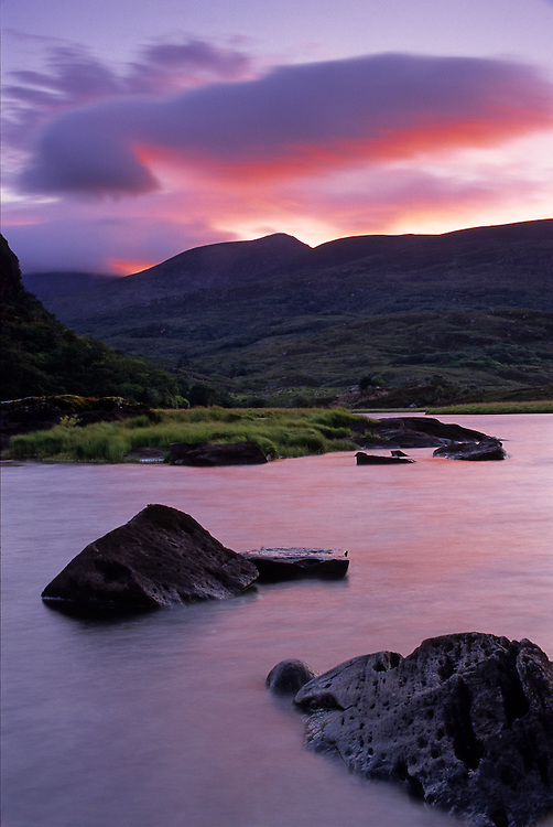 Dusk at the Upper Lake in Killarney National Park