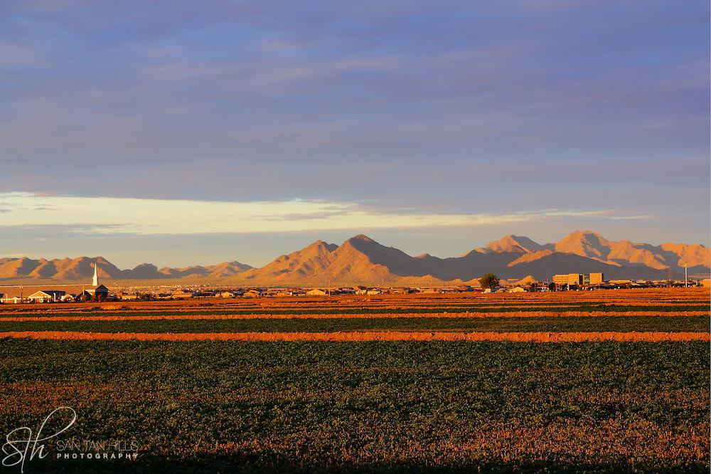 San Tan Mountains at sunrise - San Tan Valley, AZ