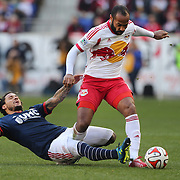 Thierry Henry, (right), New York Red Bulls, is challenged by Jermaine Jones, New England Revolution, during the New York Red Bulls Vs New England Revolution, MLS Eastern Conference Final, first leg at Red Bull Arena, Harrison, New Jersey. USA. 23rd November 2014. Photo Tim Clayton