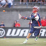 Will Manny #1 of the Boston Cannons throws the ball during the game at Harvard Stadium on August 9, 2014 in Boston, Massachusetts. (Photo by Elan Kawesch)