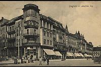 Zagreb : Jelačićev trg. <br /> <br /> ImpresumZagreb : M. Eisenmenger, [1913].<br /> Materijalni opis1 razglednica : tisak ; 8,8 x 13,9 cm.<br /> NakladnikM. Eisenmengre<br /> Vrstavizualna građa • razglednice<br /> ZbirkaZbirka razglednica • Grafička zbirka NSK<br /> ProjektPozdrav iz Hrvatske • Pozdrav iz Zagreba<br /> Formatimage/jpeg<br /> PredmetZagreb –– Trg bana Josipa Jelačića<br /> SignaturaRZG-JEL-2<br /> Obuhvat(vremenski)20. stoljeće<br /> NapomenaRazglednica je putovala 1913. godine.<br /> PravaJavno dobro<br /> Identifikatori000952378<br /> NBN.HRNBN: urn:nbn:hr:238:267353 <br /> <br /> Izvor: Digitalne zbirke Nacionalne i sveučilišne knjižnice u Zagrebu