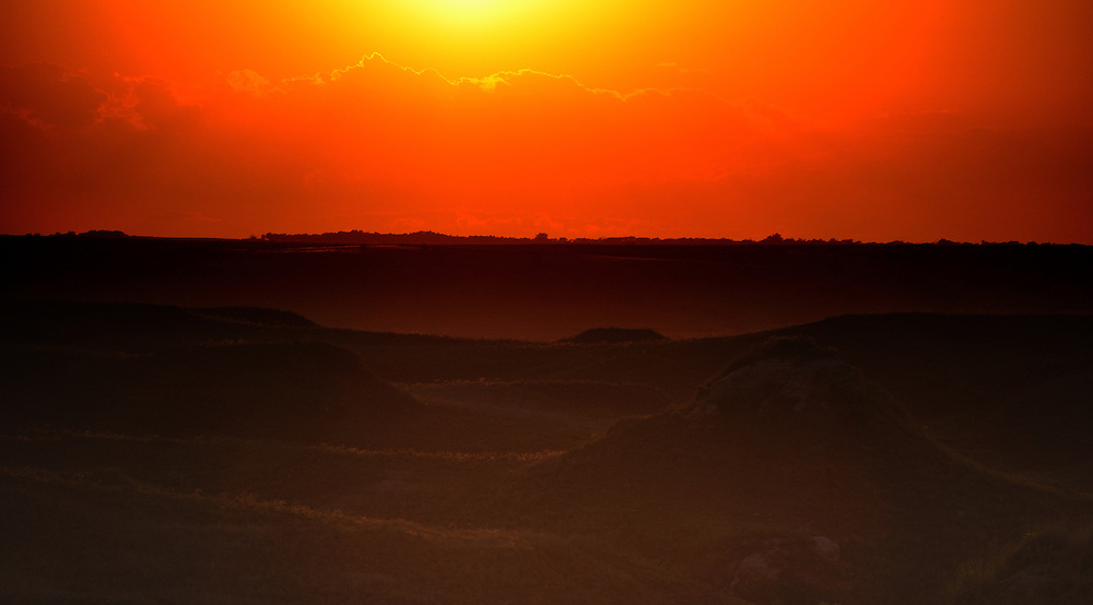 Sunset in the Gypsum Hills - Kansas