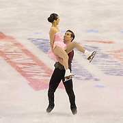 Felicia Zhang and Nathan Bartholomay compete in the championships pairs short program at the 2014 US Figure Skating Championships at TD Garden in Boston, MA, on January 9, 2014.