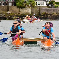 REPRO FREE<br /> Pictured at the RNLI Kinsale Raft Race on the Saturday of the Kinsale Regatta are the Sandwich Board team from The Bulman.<br /> Picture. John Allen