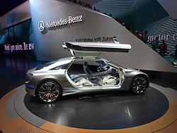 New Mercedes Benz F125! hydrogen fuel cell concept car at Frankfurt Motor Show or IAA 2011 Germany