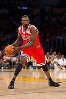 25 December 2011: Forward Luol Deng of the Chicago Bulls against the Los Angeles Lakers during the first half of the Bulls 88-87 victory over the Lakers at the STAPLES Center in Los Angeles, CA.