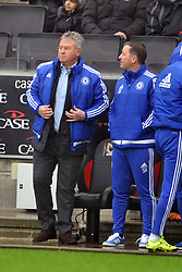 GUUS HIDDINK MANAGER CHELSEA,  MK Dons v Chelsea,  FA Cup 4th Round Stadium MK Sunday 31st January 2016
