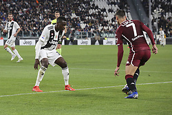 May 3, 2019 - Turin, Piedmont, Italy - Sasa Lukic (Torino FC)  and Blaise Matuidi (Juventus FC)   during the Serie A football match between Juventus FC and Torino FC at Allianz Stadium on May 03, 2019 in Turin, Italy..Final results: 1-1. (Credit Image: © Massimiliano Ferraro/NurPhoto via ZUMA Press)