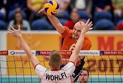 23-09-2016 NED: EK Kwalificatie Nederland - Oostenrijk, Koog aan de Zaan<br /> Nederland pakt de eerste set 25-17 / Jasper Diefenbach #6