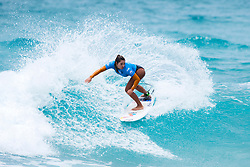 Taina Hinckel of Brazil winning quarterfinal 2 at the Jeep World Junior Championship at Kiama.