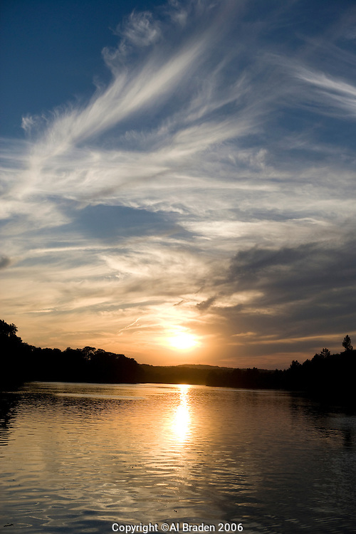 Sunset on Lady Bird Lake, Austin, Texas