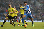 Brighton & Hove Albion striker (on loan from Arsenal) Chuba Akpom (28) prepares to shoot during the EFL Sky Bet Championship match between Brighton and Hove Albion and Burton Albion at the American Express Community Stadium, Brighton and Hove, England on 11 February 2017.