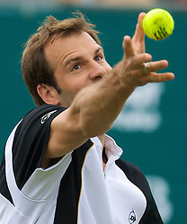 Liverpool, England - Friday, June 15, 2007: Greg Rusedski on day four of the Liverpool International Tennis Tournament at Calderstones Park. For more information visit www.liverpooltennis.co.uk. (Pic by David Rawcliffe/Propaganda)