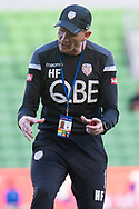MELBOURNE, VIC - JANUARY 19: Perth Glory assistant coach Hayden Foxe gestures during warm up at the Hyundai A-League Round 14 soccer match between Melbourne City FC and Perth Glory at AAMI Park in VIC, Australia 19th January 2019. Image by (Speed Media/Icon Sportswire)