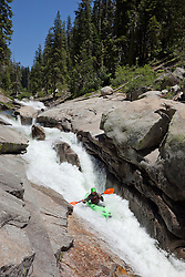 """Kayaker on Silver Creek 22"" - This kayaker was photographed on Silver Creek - South Fork, near Icehouse Reservoir, CA."
