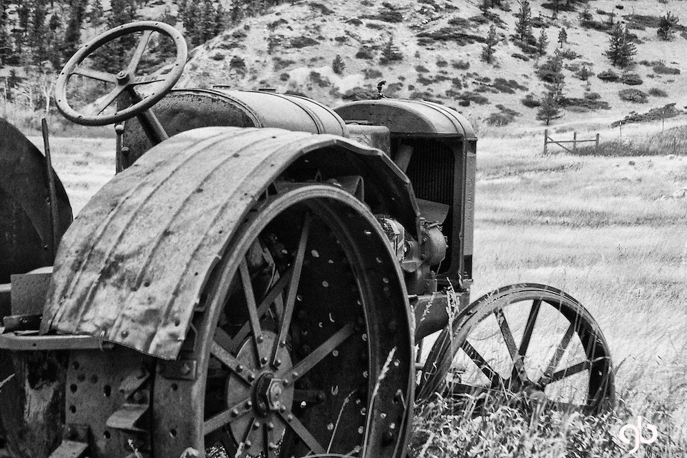 Here's an old farm tractor in Montana.