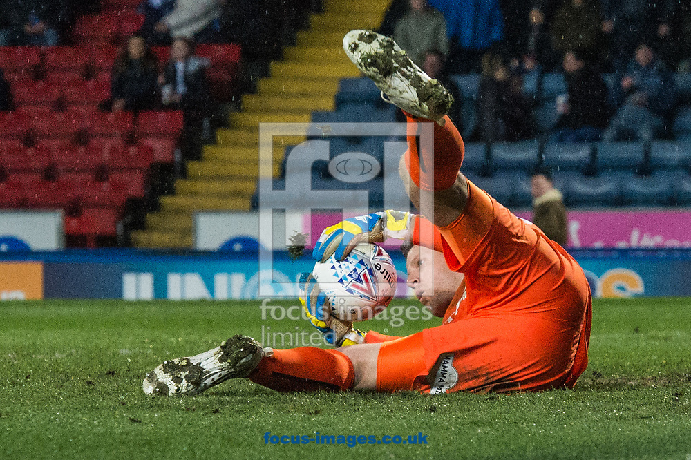 Bradford City goalkeeper Colin Doyle with a save during the Sky Bet League 1 match at Ewood Park, Blackburn<br /> Picture by Matt Wilkinson/Focus Images Ltd 07814 960751<br /> 29/03/2018