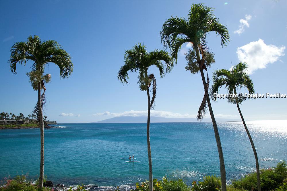 Stand-up paddleboarding, Napili Bay, Maui, Hawaii