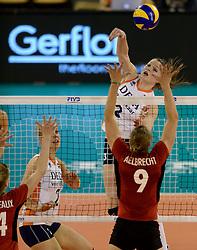 01-06-2014 NED:  Vriendschappelijk Nedeland - Belgie, Eindhoven<br /> Nederland wint met 3-2 van Belgie / Yvon Belien