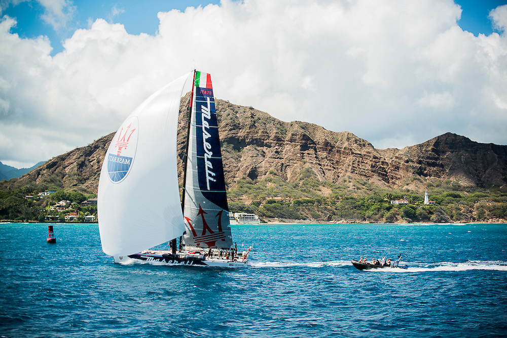Maserati arriving in Honolulu, Hawaii for Transpac 2013