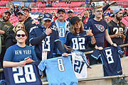 Fans wait inside the stadium to get shirts signed by the players during the International Series match between Tennessee Titans and Los Angeles Chargers at Wembley Stadium, London, England on 21 October 2018.