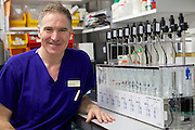 Professor Mark Johnson in the Borne research labs at Chelsea and Westminster hospital.