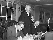 Padraig O'Caoimh, General Secretary GAA. Sean O'Siochain on left. 17.4.1960.  17th April 1960