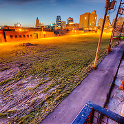 View of the downtown Kansas City skyline near 18th and Holmes, Kansas City Missouri.