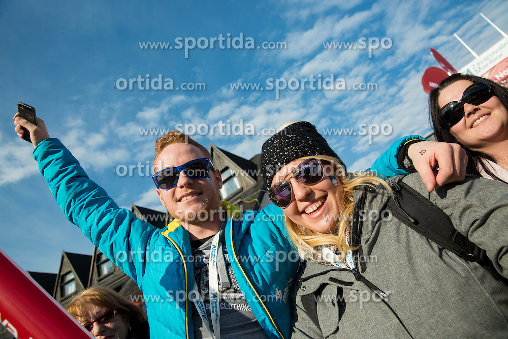 Supporters during the 2nd Run of the 7th Ladies' Giant slalom at 52nd Golden Fox - Maribor of Audi FIS Ski World Cup 2015/16, on January 30, 2016 in Pohorje, Maribor, Slovenia. Photo by Vid Ponikvar / Sportida