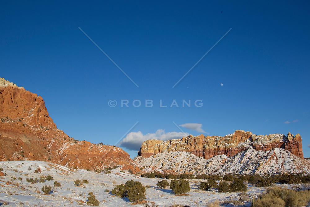 winter in Abiquiu, New Mexico