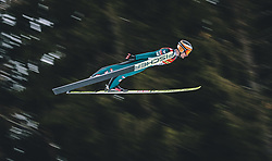 16.02.2020, Kulm, Bad Mitterndorf, AUT, FIS Ski Flug Weltcup, Kulm, Herren, 2. Wertungsdurchgang, im Bild Clemens Leitner (AUT) // Clemens Leitner of Austria during his 2nd Competition Jump for the men's FIS Ski Flying World Cup at the Kulm in Bad Mitterndorf, Austria on 2020/02/16. EXPA Pictures © 2020, PhotoCredit: EXPA/ Dominik Angerer