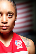 6/24/11 3:01:42 PM -- Colorado Springs, CO. -- A portrait of U.S. Olympic lightweight boxer Queen Underwood, 27, of Seattle, Wash. who will be competing for her fifth title. She began boxing in 2003 and was the 2009 Continental Champion and the 2010 USA Boxing National Champion. She is considered a likely favorite to medal at the 2012 Summer Olympics in London as women's boxing makes its debut as an Olympic sport. -- ...Photo by Marc Piscotty, Freelance.