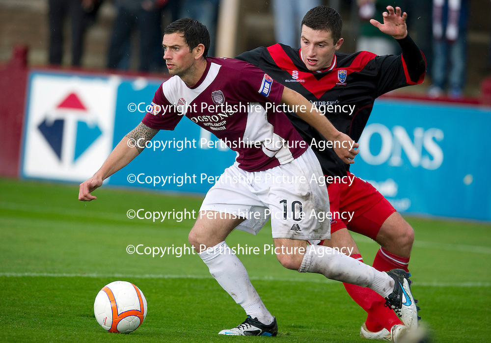 Arbroath v Airdrie Utd...17.09.11   <br /> Gavin Swankie and<br /> Picture by Graeme Hart.<br /> Copyright Perthshire Picture Agency<br /> Tel: 01738 623350  Mobile: 07990 594431