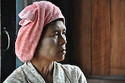 Myanmar, portrait of an indigenous woman