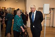 CHARLOTTE JOHNSON WAHL; BORIS JOHNSON Exhibition opening of paintings by Charlotte Johnson Wahl. Mall Galleries. London, 7 September 2015.