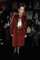 DAISY DE VILLENEUVE in the Moet & Chandon Room at British Fashion Week at the Natural History Museum on 14th February 2007.<br /><br />NON EXCLUSIVE - WORLD RIGHTS